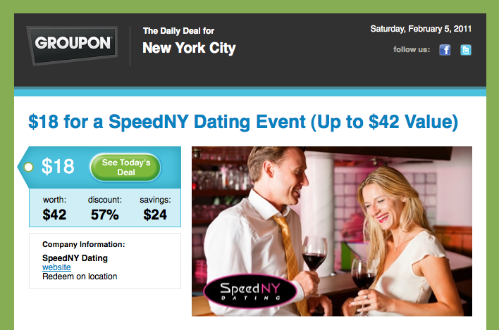 Speed dating philadelphia groupon
